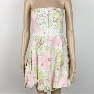 Lilly Pulitzer Calendar Corset Dress Strapless